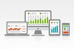 Site Web et concept mobile d'Analytics Image stock