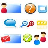 Site Web et positionnement de graphisme de support à la clientèle Image libre de droits