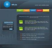 Site Web gris de vecteur pour des affaires illustration stock