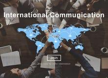 Site Web international Concep de mise en réseau de connexion de communication Image stock