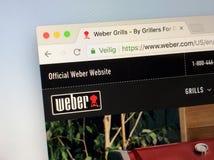 Site Web officiel de weber COM - Weber Images stock