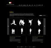 Site Web personnel de portefeuille illustration de vecteur