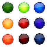 site Web rond de positionnement de boutons Photos stock