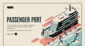 Site Web touristique de vecteur de destination de voyage illustration libre de droits