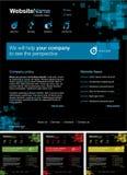 Siteauslegungschablone Lizenzfreies Stockfoto
