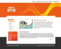 Siteauslegungschablone Stockbilder