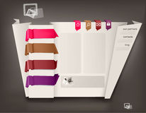 Siteauslegungschablone mit origami. Lizenzfreie Stockfotografie