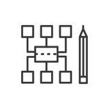 Sitemap - modern vector line design icon. Stock Photos