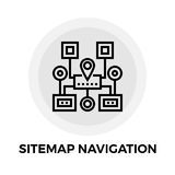 Sitemap Navigation Line Icon. Sitemap Navigation icon vector. Flat icon isolated on the white background. Editable EPS file. Vector illustration vector illustration