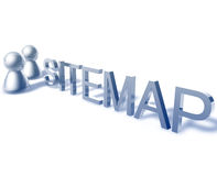 Sitemap word graphic. Sitemap online word graphic, with stylized people icons stock illustration