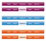 Sitenavigationsmenü Lizenzfreies Stockbild