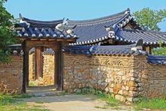 Sites de patrimoine mondial de l'UNESCO de la Corée - village de gens de Hahoe photos libres de droits
