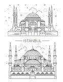 Sites historiques, sightseeings, showplaces célèbres de la Turquie Photo stock