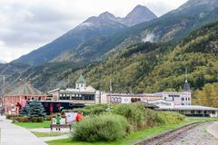 Sites and landscape views in Skagway Alaska royalty free stock photo