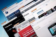 Sites Web d'entreprises manufacturières de téléphone portable photos stock