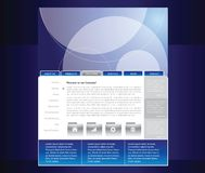 Siteschablone Lizenzfreies Stockbild