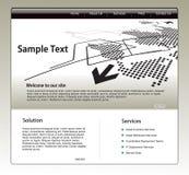 Siteschablone Lizenzfreies Stockfoto