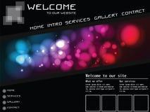 Siteschablonenelemente, futuristisch Stockbilder