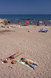 Sitges Beach. Beach scene in Sitges, near Barcelona, Spain Royalty Free Stock Photos