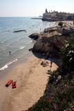 Sitges Beaches. Northern Beaches of Sitges, near Barcelona, Spain Stock Photo