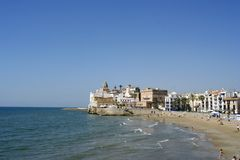 Sitges church view Royalty Free Stock Photo