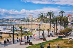 Sitges coast line in Catalonia Royalty Free Stock Photo