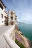 Sitges coast and Maricel museum (Barcelona, Spain) Stock Photography