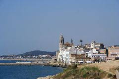 Sitges coast view Stock Image
