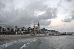 Sitges, Costa Dorada, Spain in HDR Royalty Free Stock Image