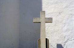 Sitges cross. A stone cross in a church in sitges, near barcelona, spain royalty free stock photography
