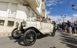 Sitges Hiszpania, Marzec 5 2017, -: 59th rocznika samochodu wiec Barcelona zdjęcia royalty free