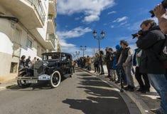Sitges Hiszpania, Marzec 5 2017, -: 59th rocznika samochodu wiec Barcelona obrazy royalty free
