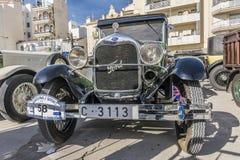 Sitges Hiszpania, Marzec 5 2017, -: 59th rocznika samochodu wiec Barcelona Obraz Royalty Free