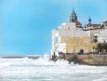 Sitges. La Blanca Subur in the Mediterranean sea Royalty Free Stock Photography