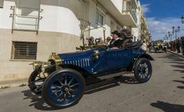 Sitges, Spanien - 5. März 2017: 59. Weinlese-Auto-Sammlung Barcelona-Sitges Lizenzfreie Stockfotografie