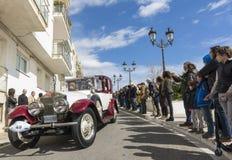 Sitges Spanien - mars 5 2017: den 59th tappningbilen samlar Barcelona-Sitges Royaltyfria Bilder