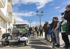 Sitges Spanien - mars 5 2017: den 59th tappningbilen samlar Barcelona-Sitges Arkivfoton