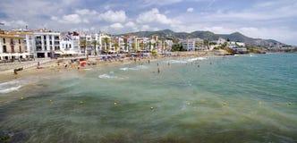 Sitges-Stadt in Catalnia, Spanien Lizenzfreies Stockbild