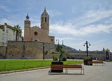 Sitges-Stadt, Katalonien, Spanien Stockfotos
