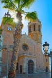 Sitges Town Hall and Church Parish of Saint Bartholomew and San. Ta Tecla in small resort town Sitges, in the suburbs of Barcelona stock photography