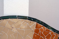Sitges wall. Ornate tiling on a wall in sitges, spain stock image