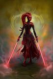 Sith girl Royalty Free Stock Photos