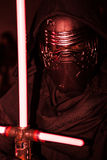 The sith Kilo-Ren. Cosplay evil sith Kilo ren with light saber Royalty Free Stock Photos