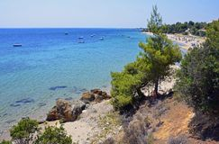 Sithonia beach Royalty Free Stock Image