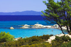Sithonia - Orange beach. Beautiful beach in south of Sithonia, Chalkidiki, Greece Stock Photography
