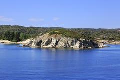 Sithonia peninsula in the Aegean Sea Stock Images