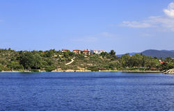 Sithonia peninsula in the Aegean Sea Royalty Free Stock Images