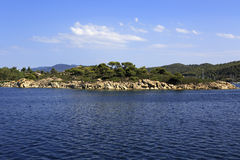 Sithonia peninsula in the Aegean Sea Royalty Free Stock Image