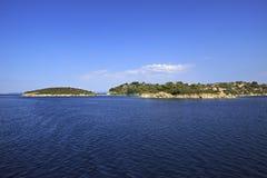 Sithonia peninsula in the Aegean Sea Stock Photo