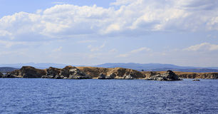 Sithonia peninsula in the Aegean Sea Royalty Free Stock Photography